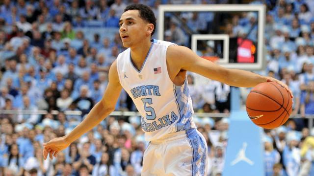 9540c44ff Marcus Paige (5) during NCAA basketball action at the Dean E. Smith Center