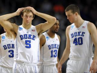 Luke Kennard (5) of the Duke Blue Devils looks on following a time out against the Yale Bulldogs during the second round of the 2016 NCAA Men's Basketball Tournament at Dunkin' Donuts Center on March 19, 2016 in Providence, RI. (Lance King/WRAL contributor)