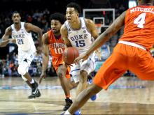 No. 14 Duke advances past Clemson 79-72
