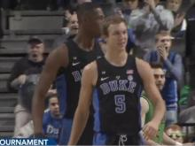 In a season that has been anything but routine for Duke, the Blue Devils won the Atlantic Coast Conference Tournament as it had never been done before. Jayson Tatum took over in the final three minutes, making key plays all over the floor, and No. 14 Duke became the first team to win the league's postseason title with four victories in four days by rallying past No. 22 Notre Dame 75-69 on Saturday night.