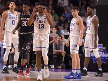 No. 2 seed Duke turned the ball over 18 times Sunday and committed 26 fouls as their miscues were too much to overcome in an 88-81 loss to No. 7 seed South Carolina in the round of 32 in the NCAA Tournament in Greenville, S.C.