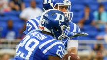 IMAGES: QB Jones' 4 TDs lead Duke to a rout of Northwestern, 41-17