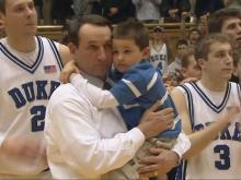 Coach K and Michael Savarino