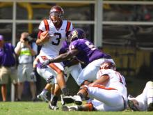East Carolina put up a fight but in the end Virginia Tech grabbed the 15-10 win at Dowdy-Ficklen Stadium Saturday, Sept. 14, 2013.