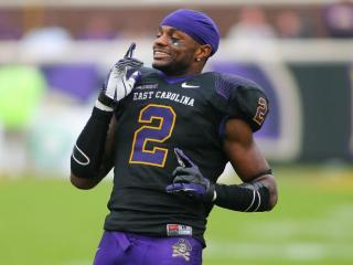 East Carolina Pirates wide receiver Justin Hardy (2) during todays game. East Carolina defeats Southern Miss 55-14 on Saturday, October 19, 2013 in Greenville, NC (Photos By Anthony Barham)