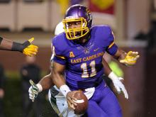 ECU sputters against USF, in 22-17 loss