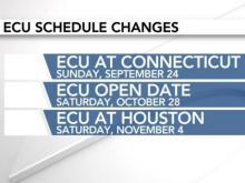Hurricane Irma forces ECU football schedule changes
