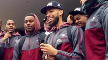 IMAGES: NCCU fans, team rally before NCAA Tournament