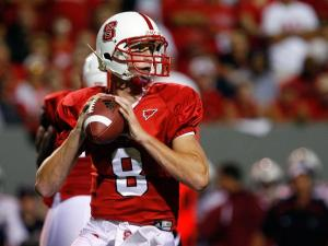 N.C. State quarterback Mike Glennon saw his first colliegate action against South Carolina on September 3, 2009.