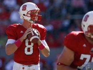 Mike Glennon of N.C. State on October 9, 2010.