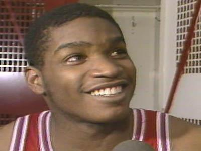 Lorenzo Charles in the locker room after 1983 Championship game