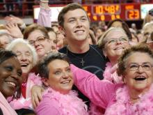 N.C. State took on Wake Forest during the annual Hoops 4 Hope game on Feb. 12, 2012, honoring breast cancer surivors. Idol Scotty McCreery performed during halftime.