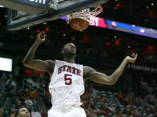 NC State took a first round win over Boston College, 78-57, Wednesday, March 8, 2012 at Philips Arena.