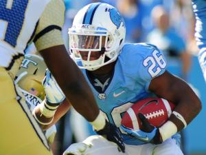 Gio Bernard (26) runs with ball during the University of North Carolina vs. Georgia Tech NCAA football game, Saturday, November 10, 2012 in Chapel Hill, NC.