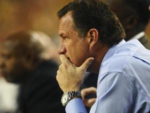 North Carolina State head coach Mark Gottfried looks on during North Carolina State's 79-72 loss to Michigan at Crisler Center in Ann Arbor, Mich. on Tuesday, Nov. 27, 2012.
