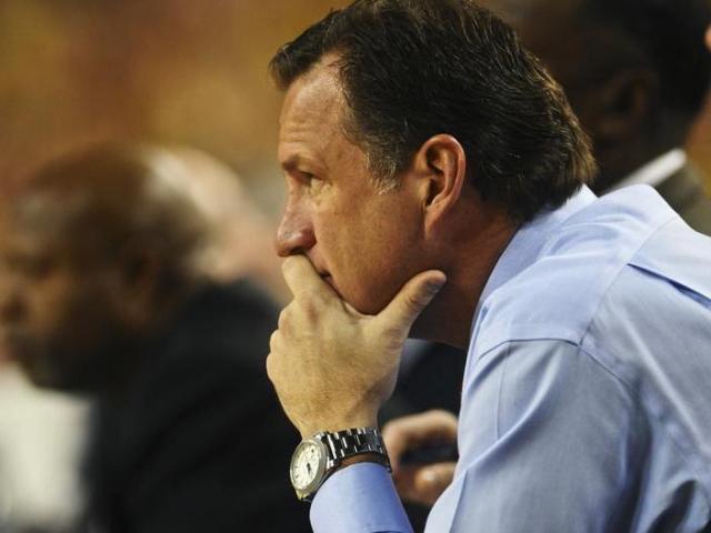 North Carolina State head coach Mark Gottfried looks on during North Carolina State's 79-72 loss to Michigan at Crisler Center in Ann Arbor, Mich. on Tuesday, Nov. 27, 2012.