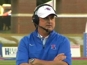 Louisiana Tech head coach Sonny Dykes is rumored to be a leading candidate for the NC State head football coaching position.