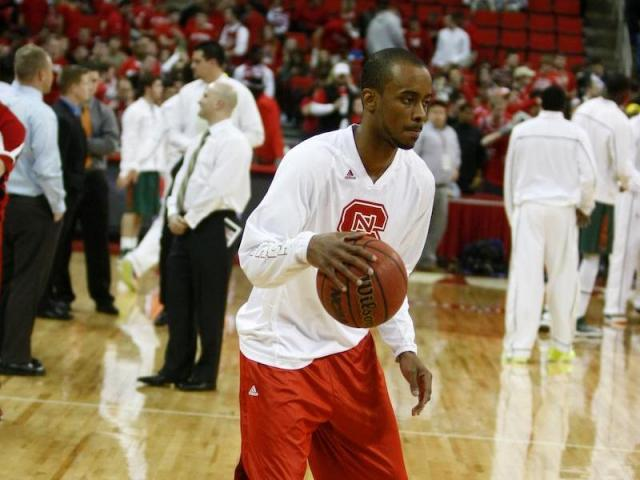 Injured guard Lorenzo Brown (2) shoots around before the Miami vs. NC State game on February 2, 2013 in Raleigh, North Carolina.<br/>Photographer: Jerome Carpenter