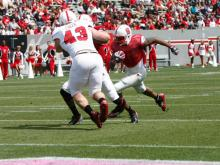 NC State's Red Team defeated the White squad 20-10 in the Kay Yow Spring Game Saturday, April 20, 2013 at Carter-Finley Stadium.