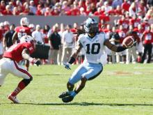 Tre Boston (10) breaks up a pass during the UNC vs. NC State game on November 2, 2013 in Raleigh, North Carolina.