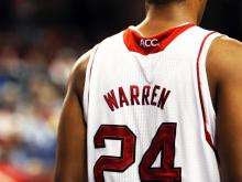 North Carolina State University sophomore forward T.J. Warren announced Tuesday that he will forgo his remaining college eligibility and enter the 2014 NBA Draft.