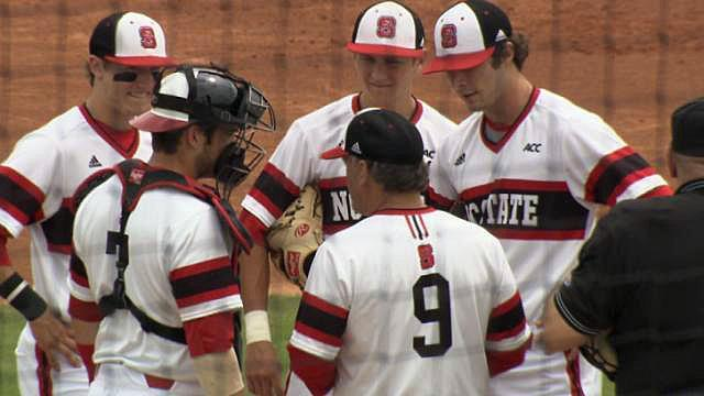 NC State baseball rallied with three runs in the bottom of the ninth to force extra innings, before Boston College escaped with a 9-7 win in 11 on Easter Sunday at Doak Field at Dail Park.