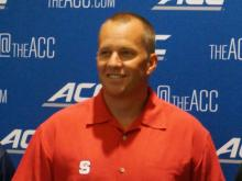 NC State head coach Dave Doeren at the ACC Kickoff in Greensboro Monday, July 21, 2014.