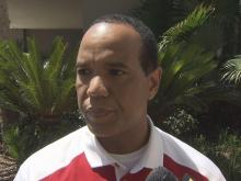 NCSU coach Kevin Keatts at ACC meetings
