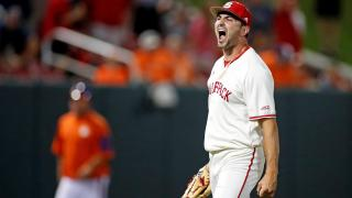 NC State baseball pitcher Sean Adler