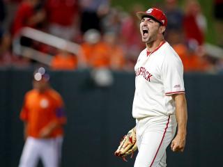 NC State baseball pitcher Sean Adler