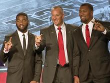 Full video: Doeren, Samuels and Chubb meet the media