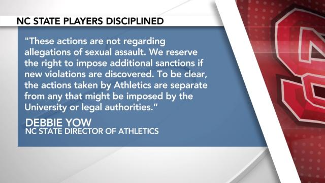 Debbie Yow statement on suspended NC State football players