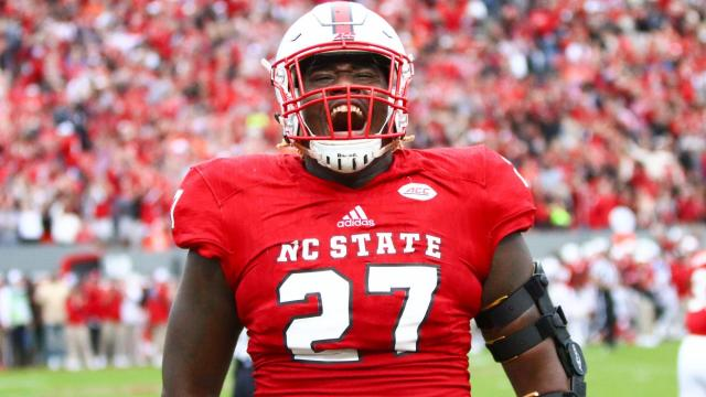 brand new 9c48b 1e941 Path to the draft: Justin Jones thankful for competition at ...
