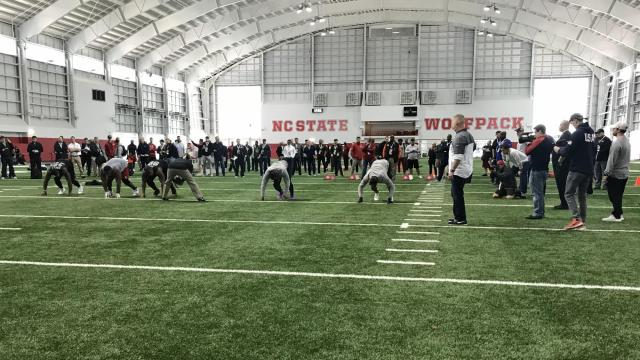 NC State football hosts Pro Day in Raleigh
