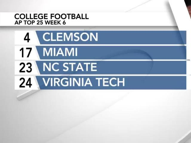 NC State ranked No  23 in AP Poll after 4-0 start