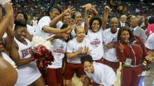 Shaw women celebrate fourth consecutive CIAA title with 73-70 win over Fayetteville State