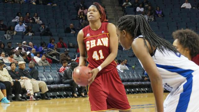 The Shaw Lady Bears won their fourth consecutive CIAA championship Saturday as they beat Fayetteville State in the tournament final, 73-70. (Photo by Stuart Todd)