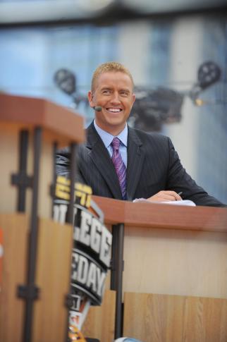 ESPN's Kirk Herbstreit at ESPN's College GameDay in Atlanta, Saturday, September 4, 2010.