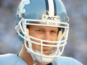 T.J. Yates during the North Carolina Tar Heels vs. Virginia Tech Hokies game at Kenan Stadium in Chapel Hill, N.C. on Saturday, November 13, 2010.