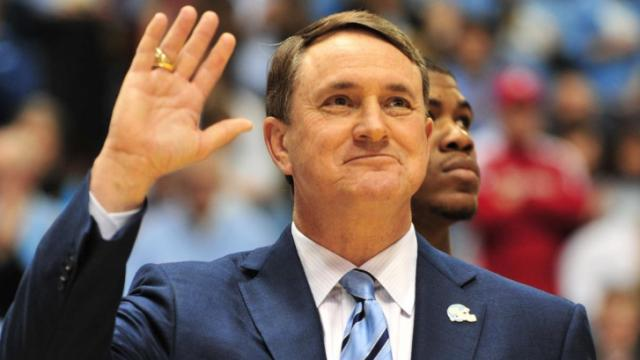 Butch Davis and members of the UNC football team were honored at halftime of the North Carolina Tar Heels vs. North Carolina State Wolfpack game, Saturday, January 29, 2011 at the Dean E. Smith Center in Chapel Hill, N.C.