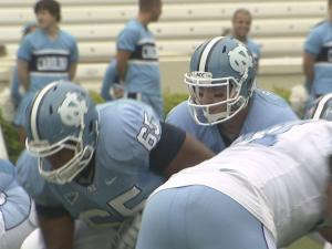 The Tar Heels capped spring practice with a scrimmage April 9, 2011.
