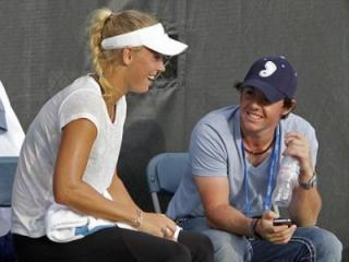 Rory McIlroy in UNC hat