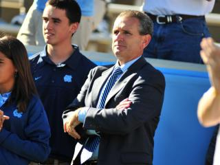 Newly hired Athletic Director Bubba Cunningham during the University of North Carolina vs. Miami game, Saturday, October 15, 2011.