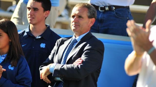 FILE: Newly hired Athletic Director Bubba Cunningham during the University of North Carolina vs. Miami game, Saturday, October 15, 2011.