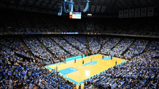 The Dean E. Smith Center during the North Carolina Tar Heels vs. Miami Hurricanes basketball game in Chapel Hill, N.C. Tuesday, January 10, 2012.