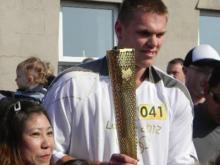 UNC's Hutchinson part of Olympic torch relay