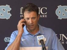 Larry Fedora gets birthday call from dad