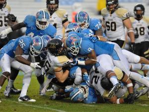 North Carolina defeats Idaho Vandals 66-0 at Kenan Stadium in Chapel Hill North Carolina.