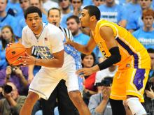 James Michael McAdoo scored 19 points to help No. 21 North Carolina hold off East Carolina 93-87 Saturday, Dec. 15, 2012 at the Dean Smith Center.
