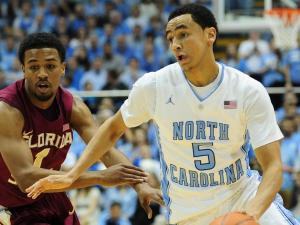 Marcus Paige (5) during the North Carolina Tar Heels vs. Florida State Seminoles NCAA basketball game, Saturday, March 3, 2013 in Chapel Hill, NC.